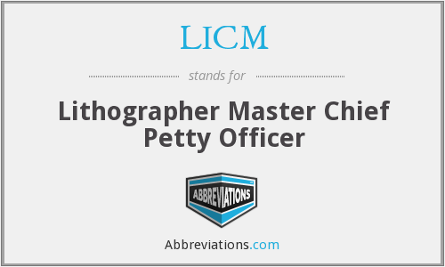 LICM - Lithographer Master Chief Petty Officer