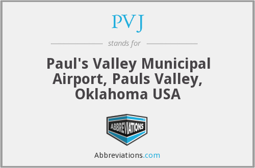 PVJ - Paul's Valley Municipal Airport, Pauls Valley, Oklahoma USA