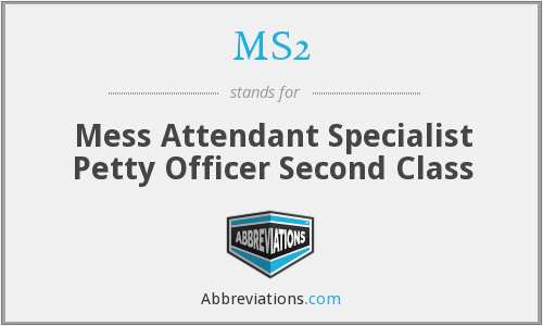 MS2 - Mess Attendant Specialist Petty Officer Second Class