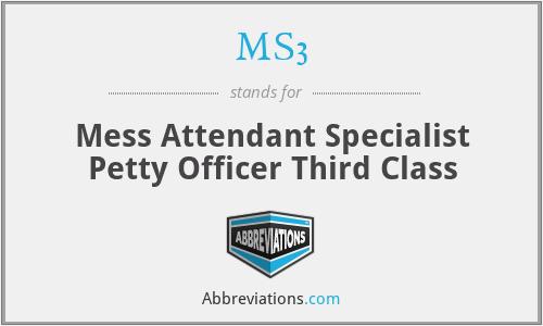 MS3 - Mess Attendant Specialist Petty Officer Third Class