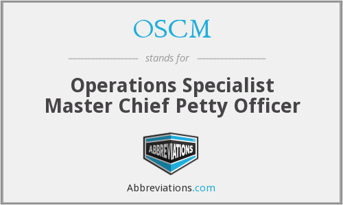 OSCM - Operations Specialist Master Chief Petty Officer