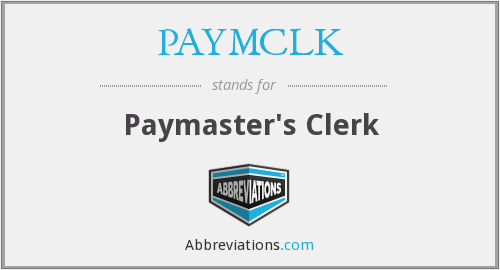 What does PAYMCLK stand for?