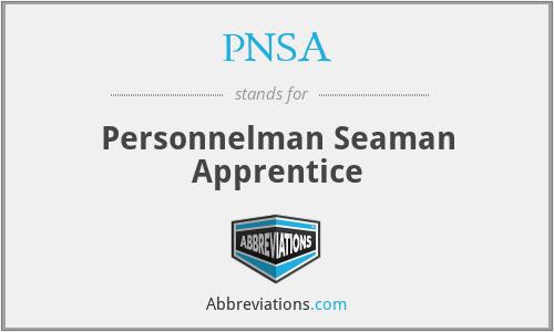 PNSA - Personnelman Seaman Apprentice