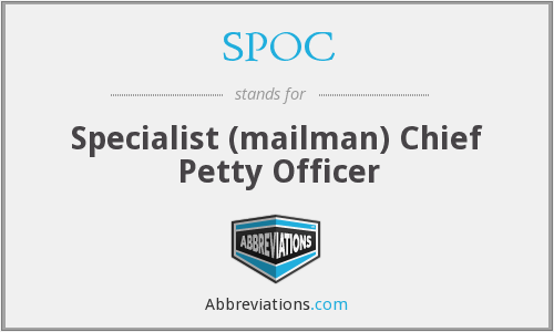 SPOC - Specialist (mailman) Chief Petty Officer