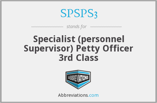 What does SPSPS3 stand for?