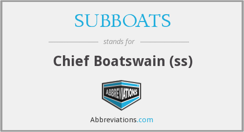 What does SUBBOATS stand for?