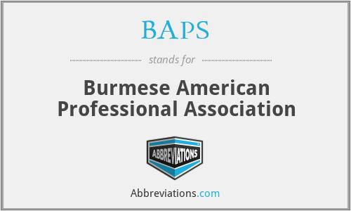 BAPS - Burmese American Professional Association