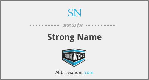 SN - Strong Name