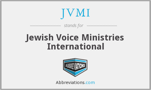 JVMI - Jewish Voice Ministries International