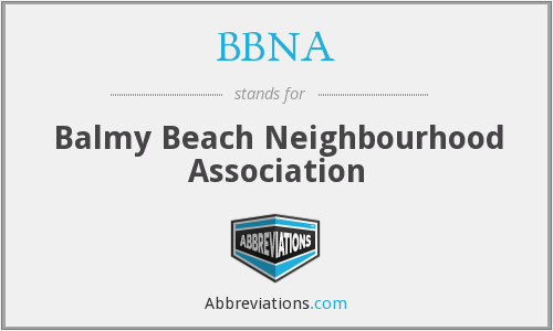 What does BBNA stand for?
