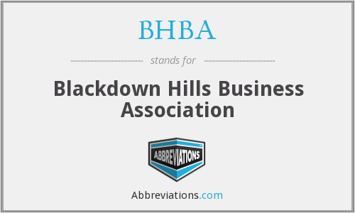 What does BHBA stand for?