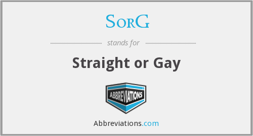 What does SORG stand for?