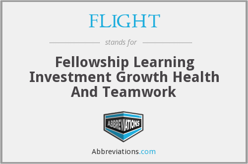 FLIGHT - Fellowship Learning Investment Growth Health And Teamwork