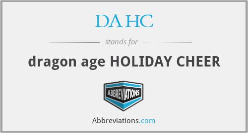 DAHC - dragon age HOLIDAY CHEER