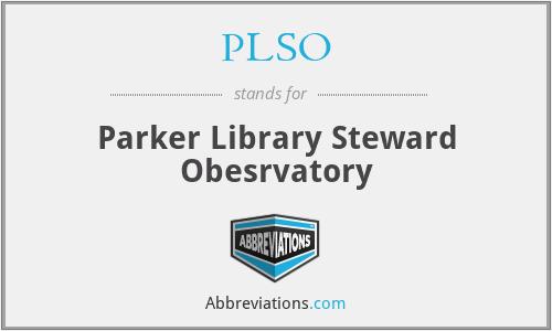 PLSO - Parker Library Steward Obesrvatory