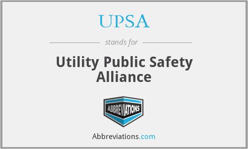 UPSA - Utility Public Safety Alliance