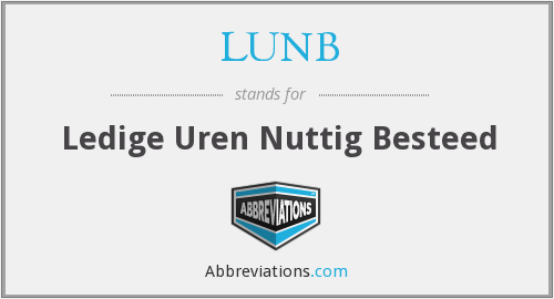 What does LUNB stand for?