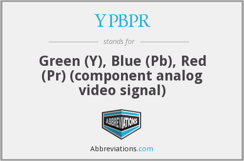What does YPBPR stand for?