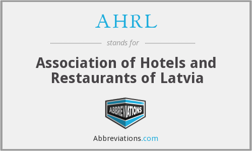 What does AHRL stand for?
