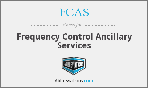 FCAS - Frequency Control Ancillary Services