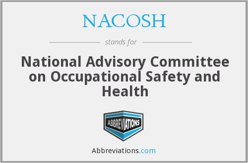 What does NACOSH stand for?