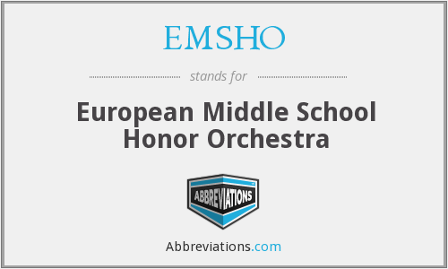 EMSHO - European Middle School Honor Orchestra