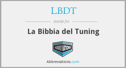 What does LBDT stand for?