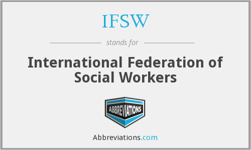 What does IFSW stand for?