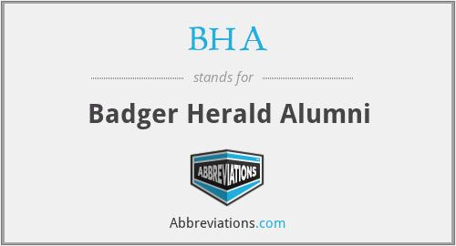 BHA - Badger Herald Alumni