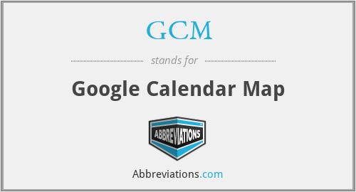 GCM - Google Calendar Map