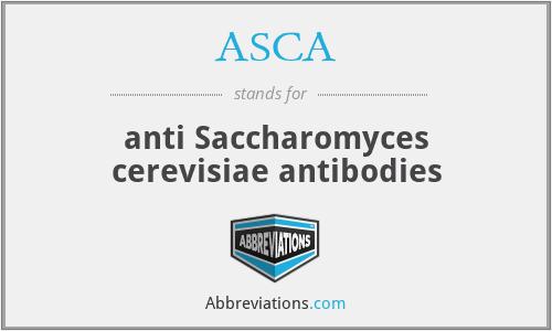 ASCA - anti Saccharomyces cerevisiae antibodies