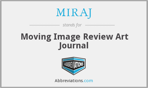 MIRAJ - Moving Image Review Art Journal