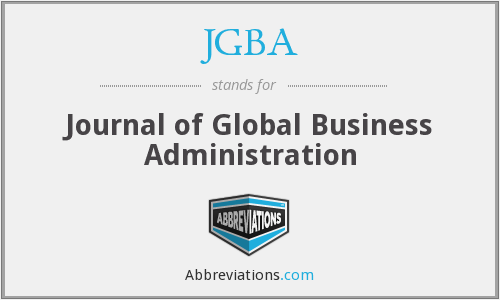 What does JGBA stand for?