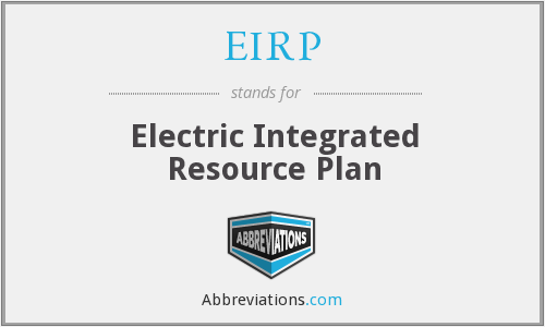 EIRP - Electric Integrated Resource Plan