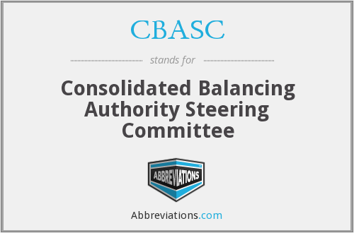 CBASC - Consolidated Balancing Authority Steering Committee