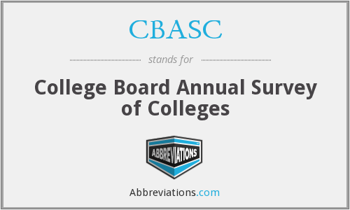 CBASC - College Board Annual Survey of Colleges