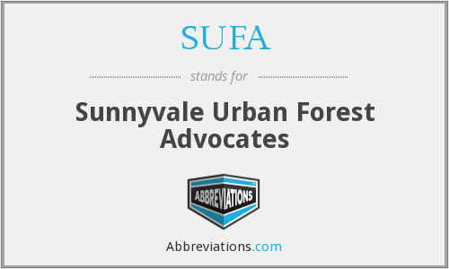 SUFA - Sunnyvale Urban Forest Advocates