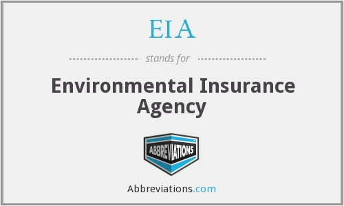 EIA - Environmental Insurance Agency