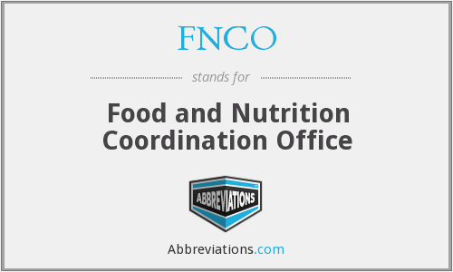 FNCO - Food and Nutrition Coordination Office