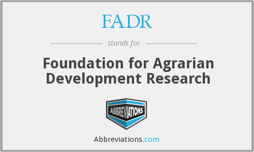 What does FADR stand for?