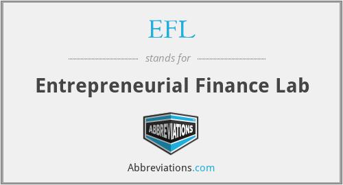 EFL - Entrepreneurial Finance Lab