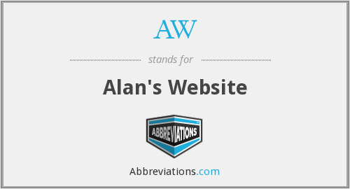 AW - Alan's Website