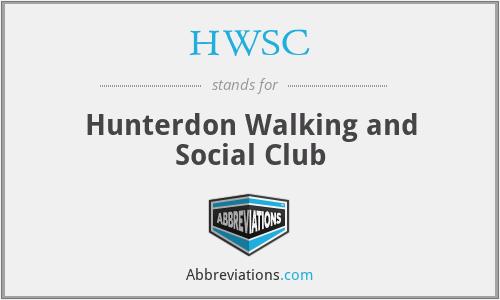 HWSC - Hunterdon Walking and Social Club