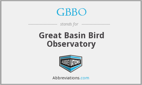 GBBO - Great Basin Bird Observatory
