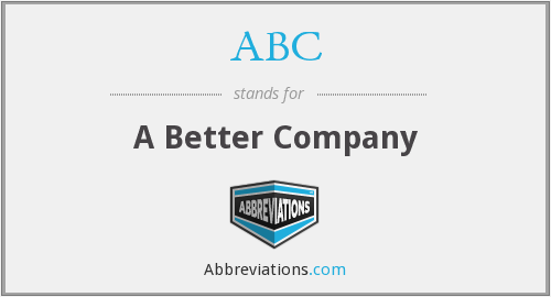 ABC - A Better Company