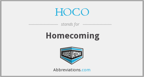 What does HOCO stand for?