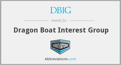 DBIG - Dragon Boat Interest Group