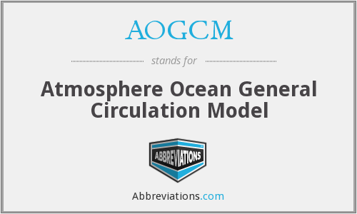 What does AOGCM stand for?