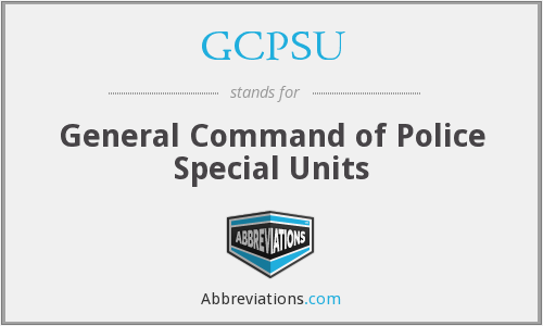 What does GCPSU stand for?
