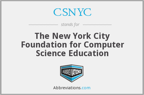 What does CSNYC stand for?